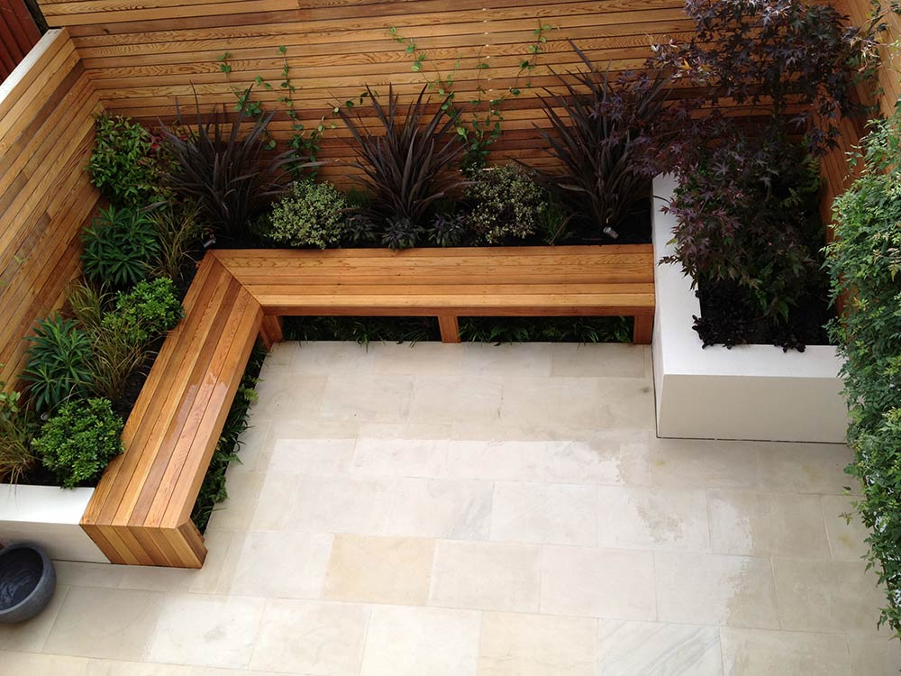 Balham contemporary garden club london for Victorian terraced house garden design
