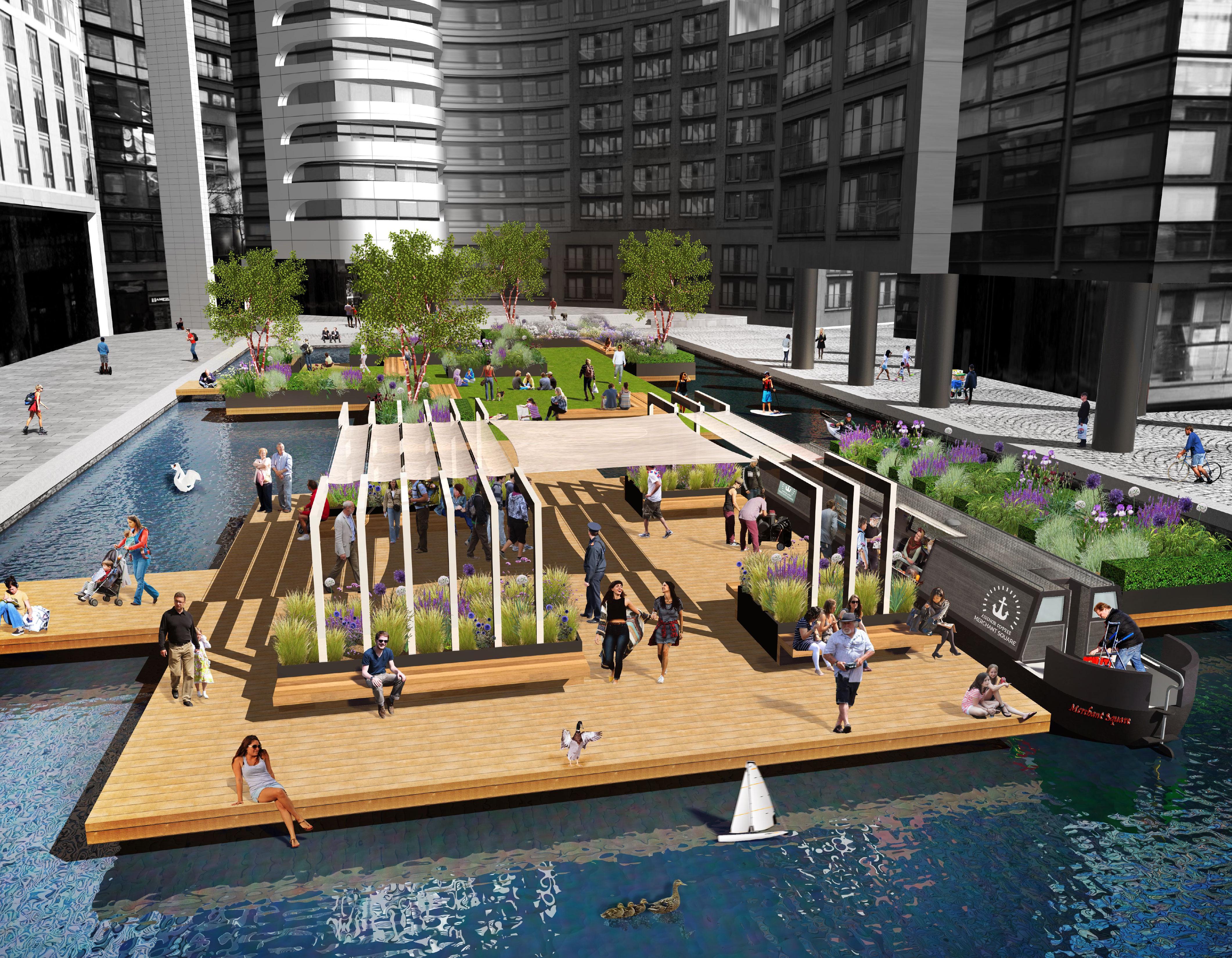 Our Design For London S First Floating Pocket Park